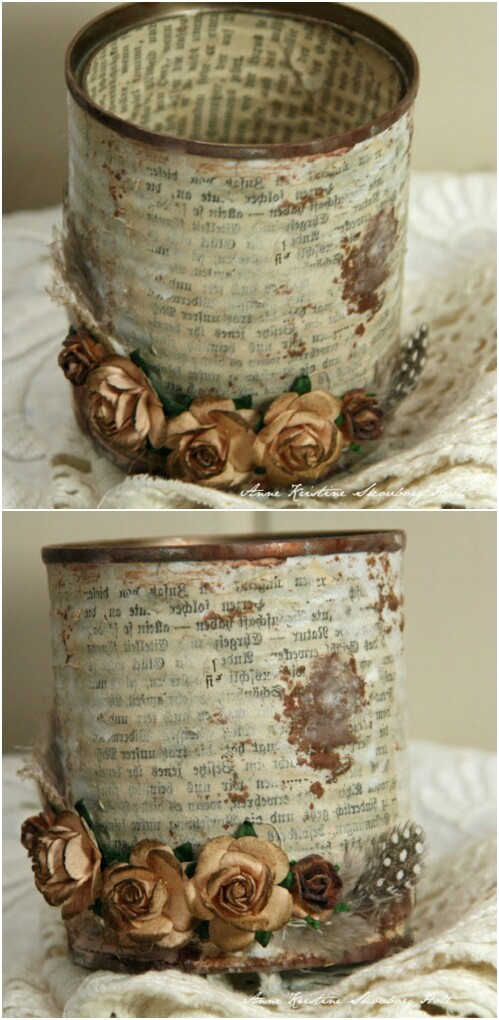 13+ DIY Tin Cans Into Adorable Decor Ideas
