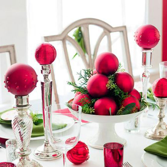 Dekoration Rot Christmas Table Ideas: Decorating With Red And Green