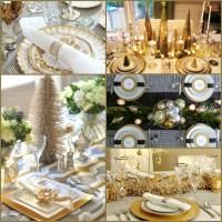 Gold Christmas Table Settings