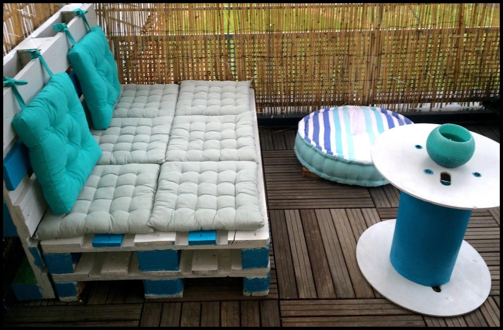 Salon De Jardin Bleu Turquoise | Fauteuil Chaise Siège De Salon Ou ...