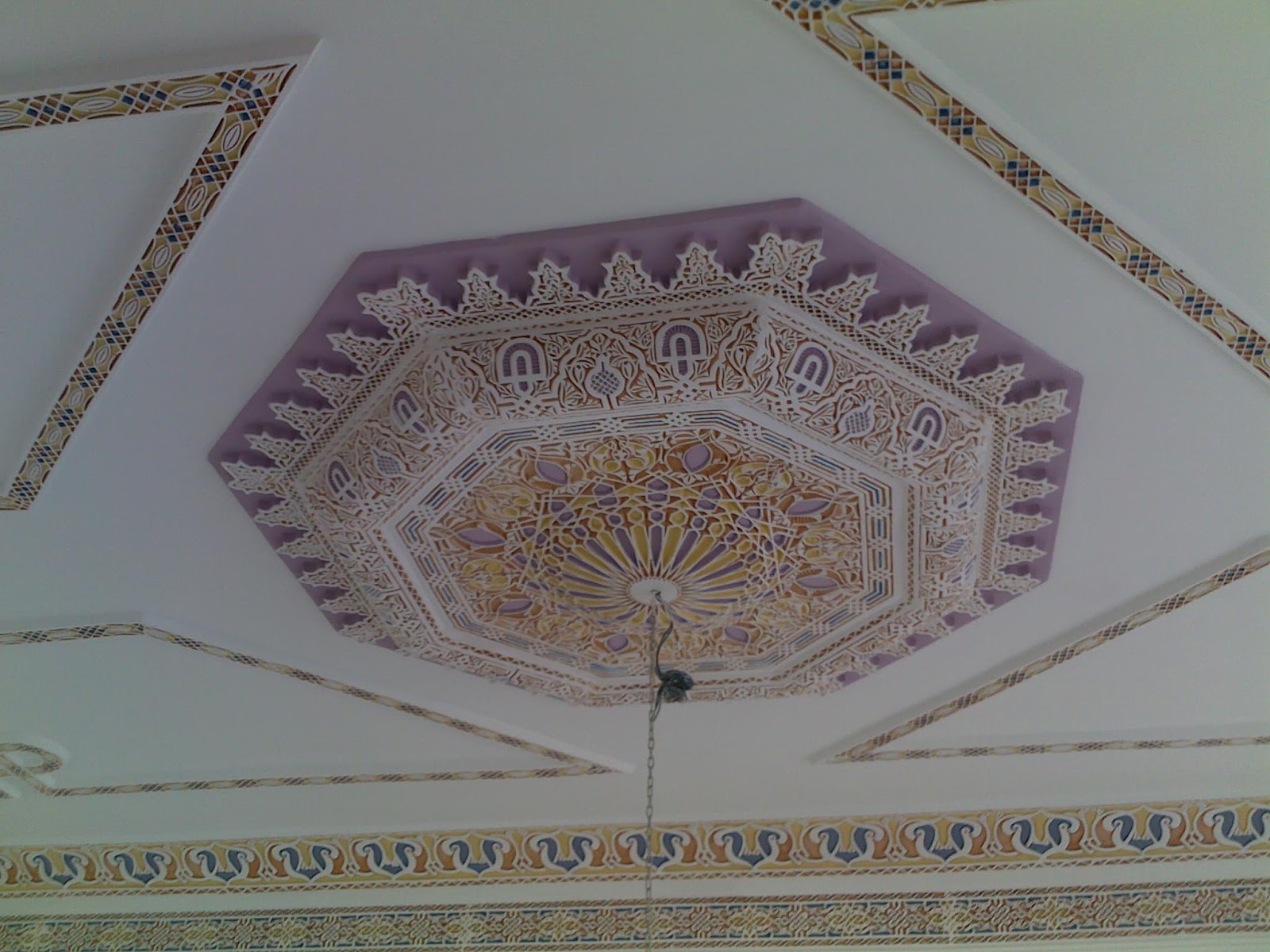 Decoration Restaurant Traditionnel Plafond Marocain Oriental En Platre Sculpté - Decoration
