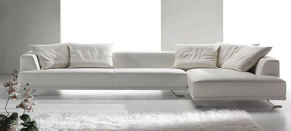 Modernes Ledersofa Italian Leather Sofas Life Time Furniture - Decoration Channel