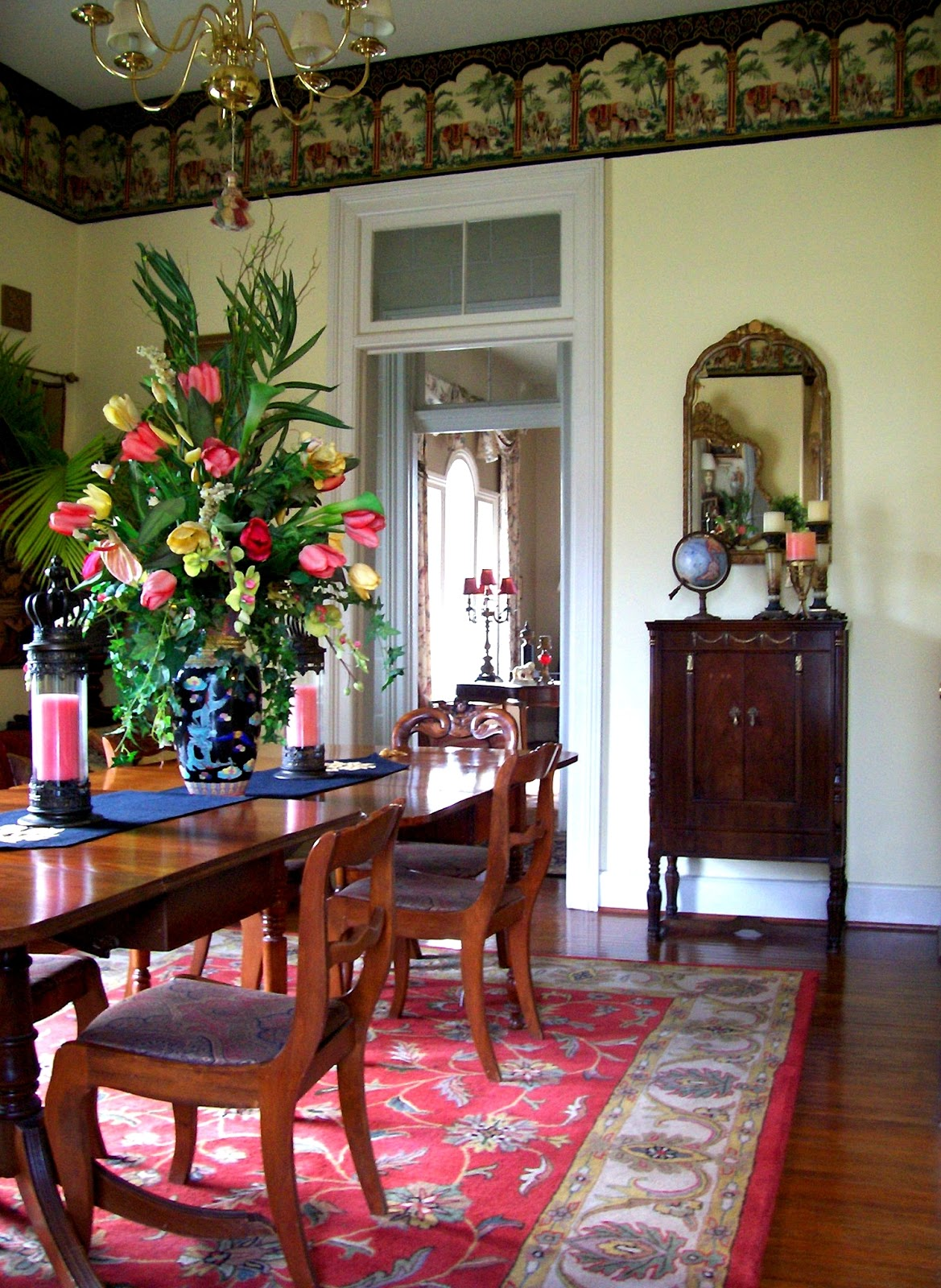 Tropical Dining Room Coral And Yellow Tropical Dining Room Design