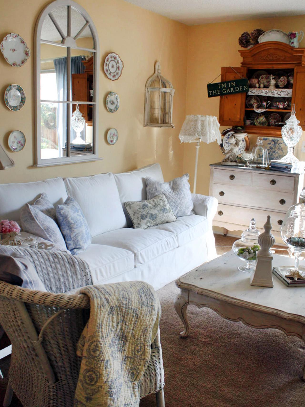 25 Shabby Chic Style Living Room Design Ideas Decoration - Decorating Ideas For Living Rooms