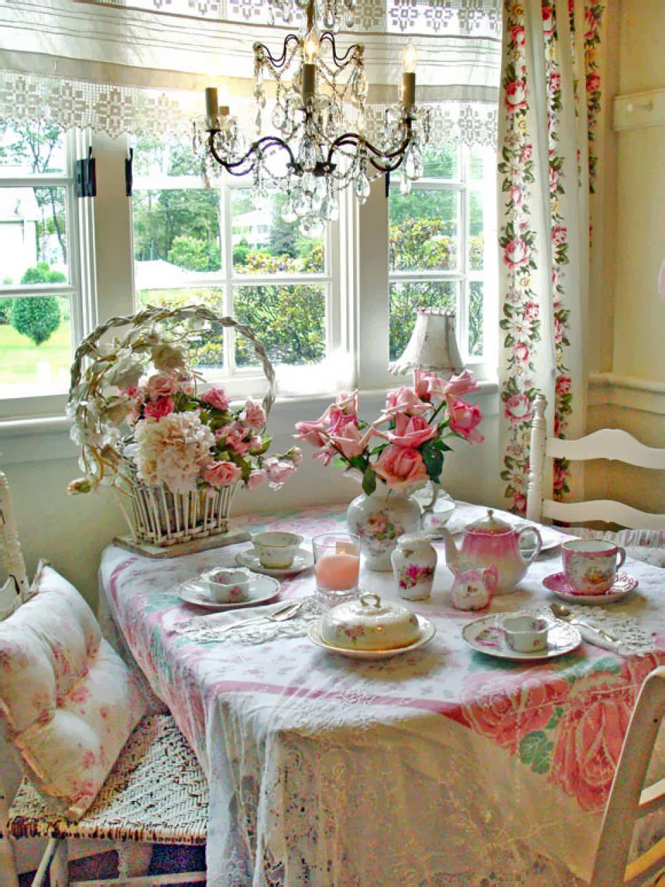 Shabby Chic Dekoration 25 Shabby-chic Style Dining Room Design Ideas - Decoration