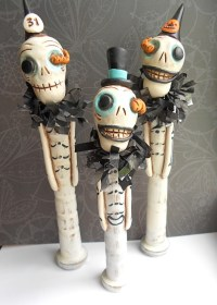 Vintage Halloween Skeleton Decorations Ideas