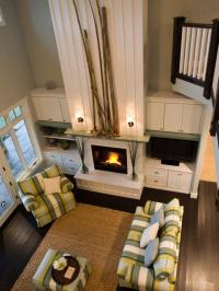 2 Story Living Room with Fireplace