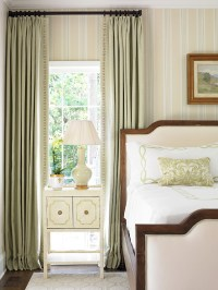 Narrow Window Treatments Classic Bedroom Design