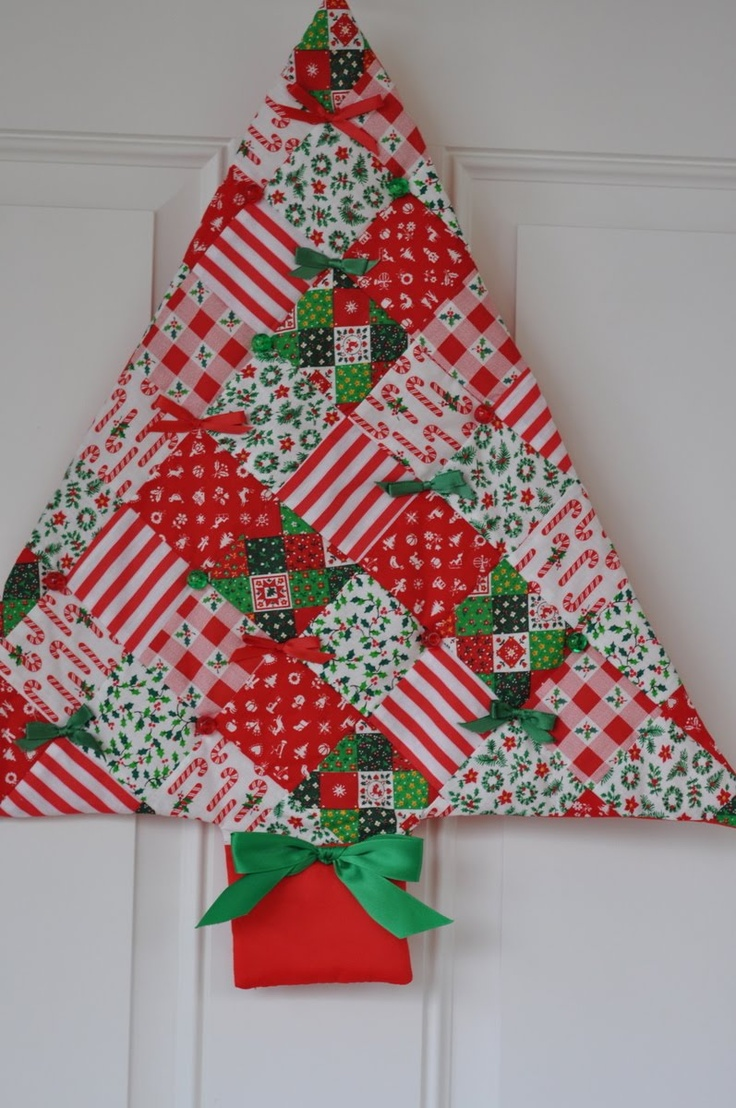 Pinterest Christmas Quilted Wall Hangings 40 Fabric Christmas Tree Decorations Ideas Decoration Love