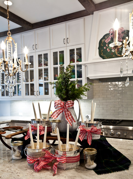 Kitchen Island Ideas With Bar Top 40 Christmas Decorations Ideas For Kitchen