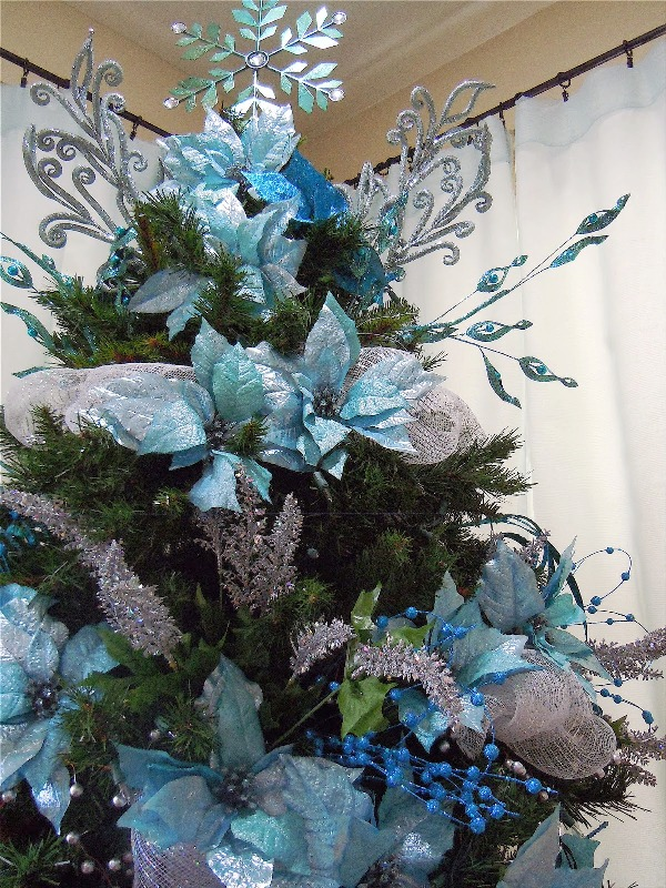 Outdoor Bathroom 33 Turquoise Christmas Tree Decorations Ideas - Decoration
