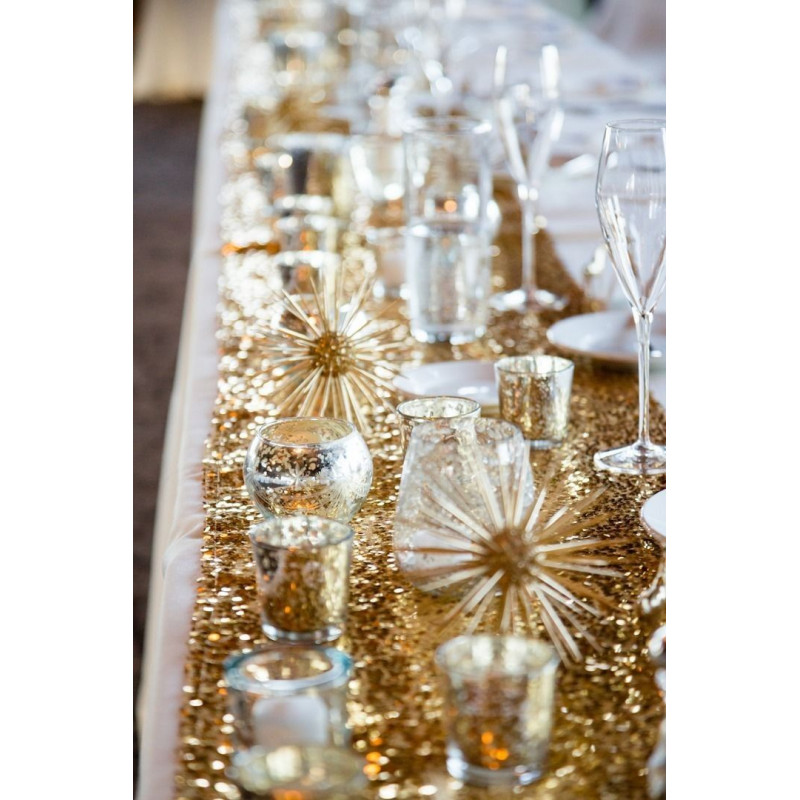 Decoration Mariage Chemin De Table Chemin De Table Sequins Or Deco Table