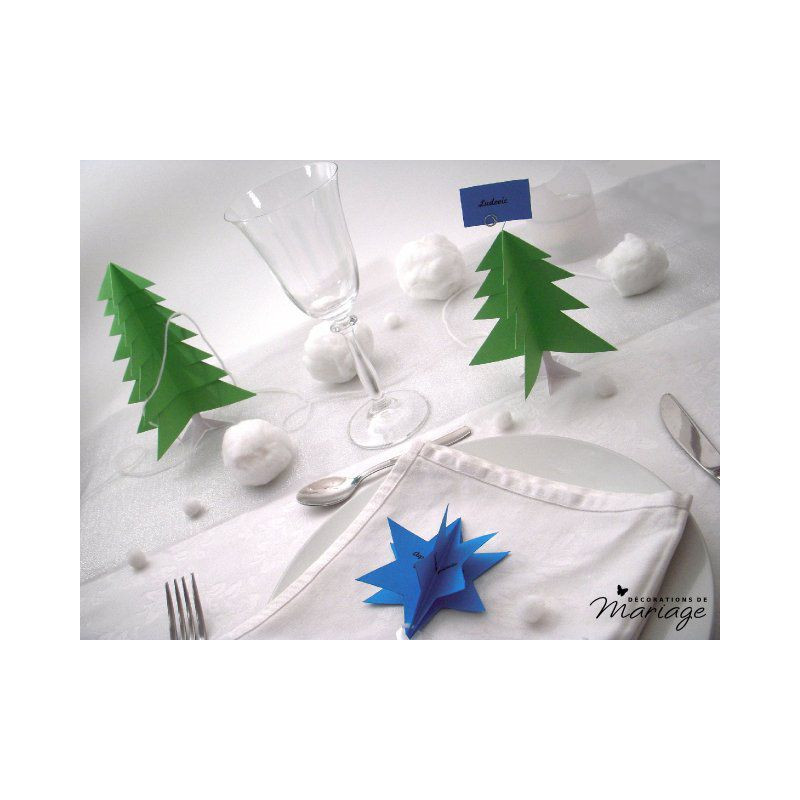 Deco Sapin Rouge Et Blanc Decoration Table Noel Menu Etoile