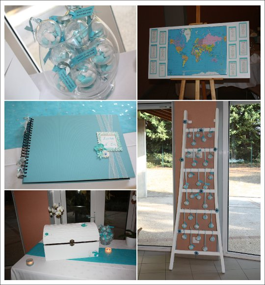 Deco Chambre Bleu Turquoise Real Weddings Voyage