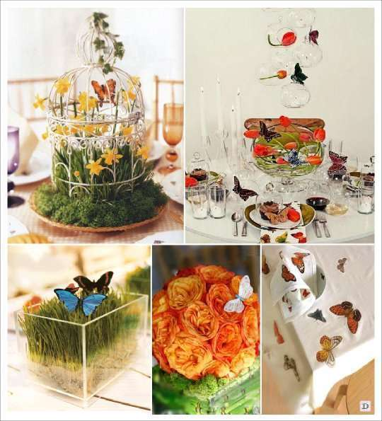 Fausse Pelouse Terrasse Mariage Theme Papillons : Idees Deco