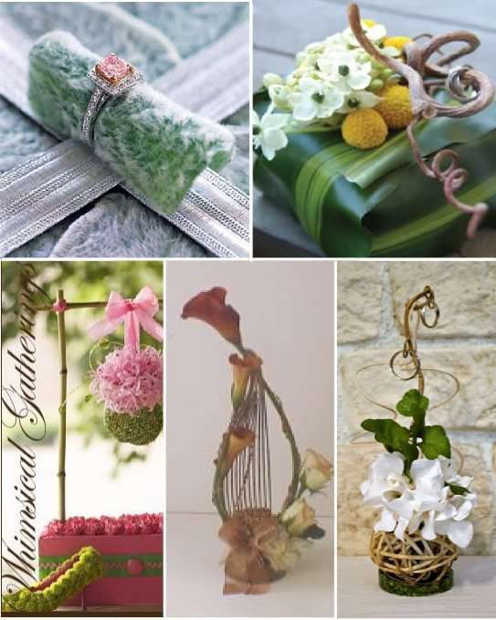 Mousse Composition Florale Idees Porte Alliances Mariage
