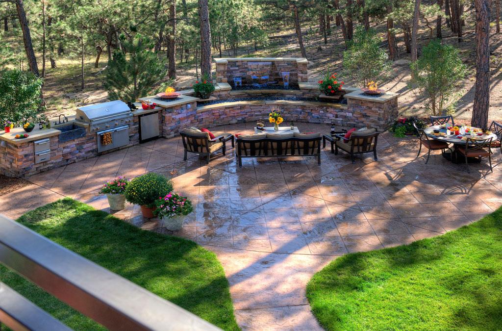 Stamped Concrete Nh Ma Me Decorative Patio Pool Deck