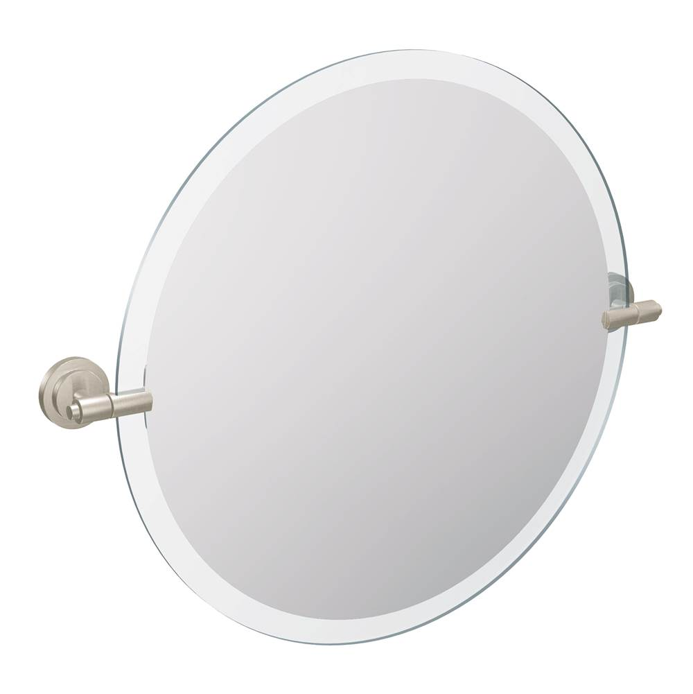 Decorative Brushed Nickel Mirror Moen Bathroom Accessories Magnifying Mirrors Nickel Tones
