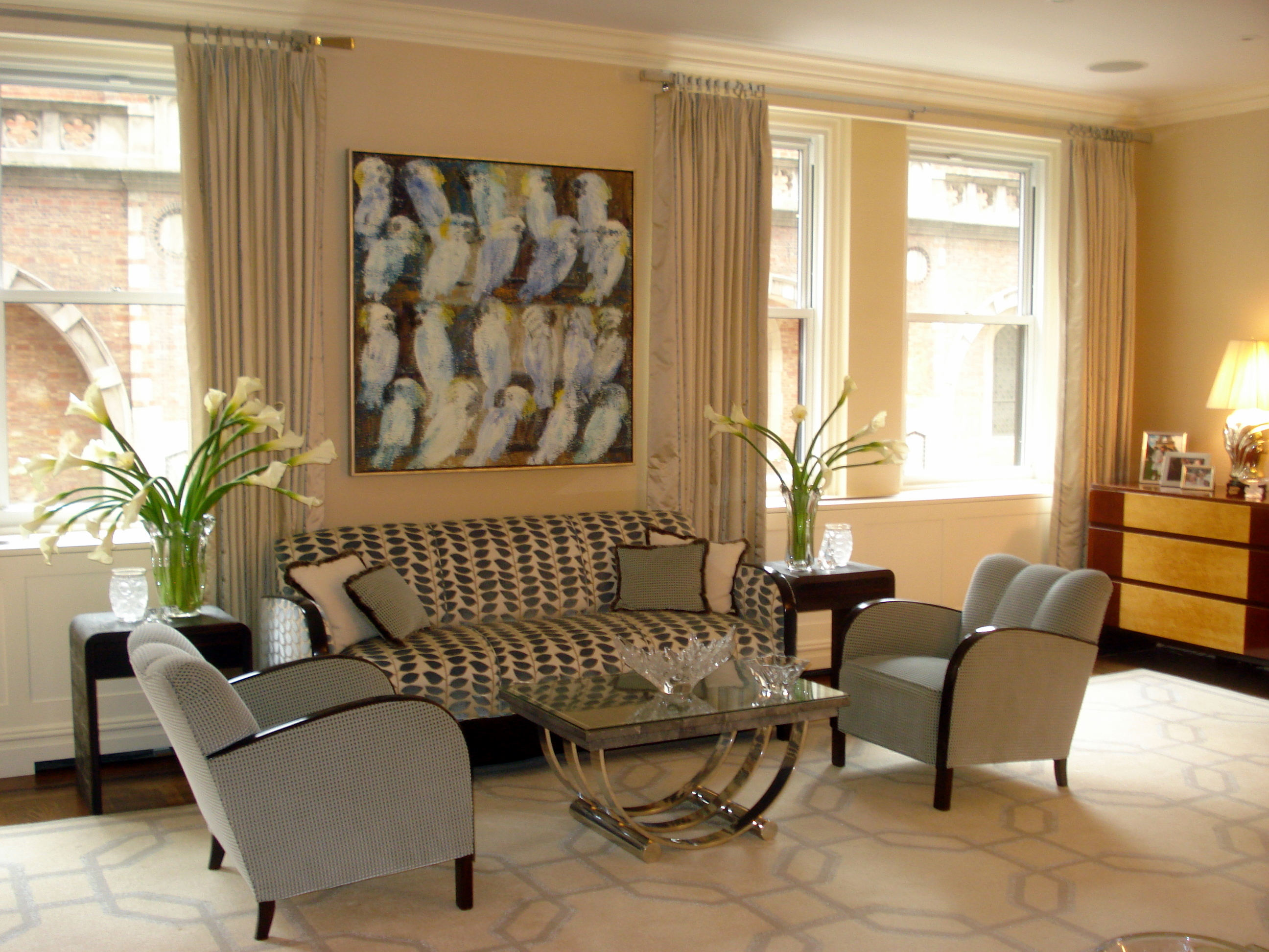 Art Deco Living Room Guy Clark Interiors Modern Traditional With A Twist