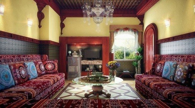 Salon Berbere Moroccan Living Room Décor - Decor Around The World