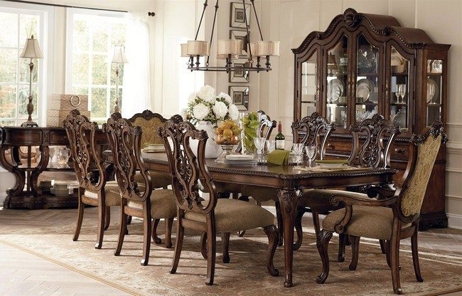 Large Living Room Windows Décor For Formal Dining Room Designs - Decor Around The World
