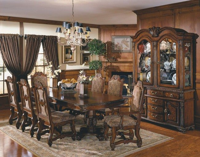 Wooden Vintage Bedroom Furniture Décor For Formal Dining Room Designs - Decor Around The World