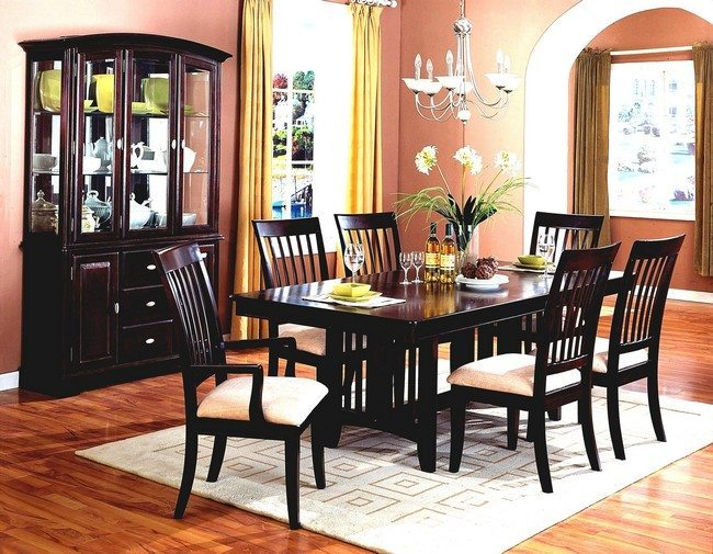 Large Round Dining Table Décor For Formal Dining Room Designs - Decor Around The World