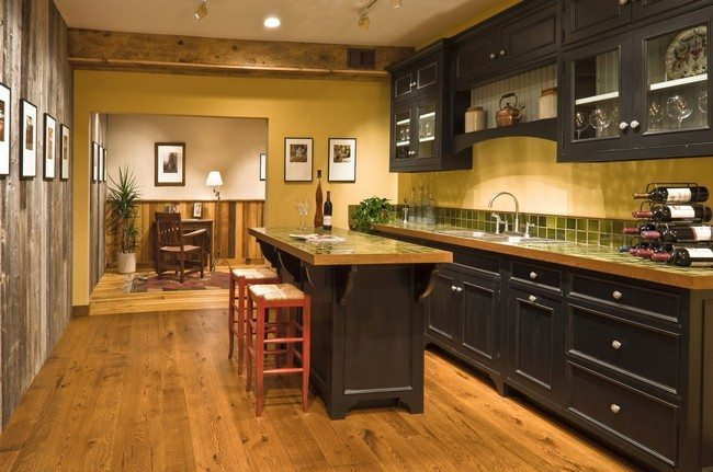 Island In A Small Kitchen Tips On Designing A Home Bar For Your Kitchen - Decor