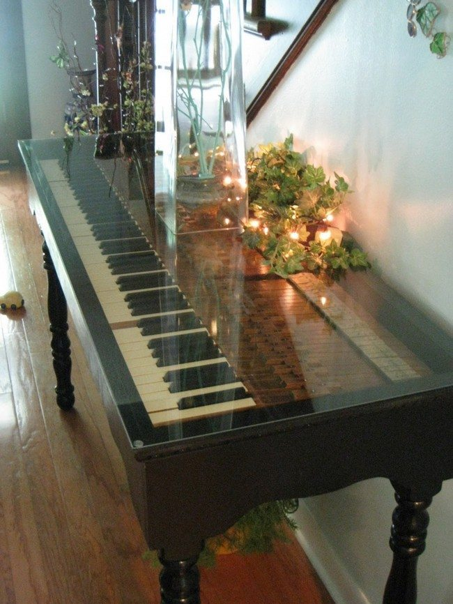 Living Room And Kitchen Combined Repurposed Piano Ideas You Can Try On Your Own - Decor
