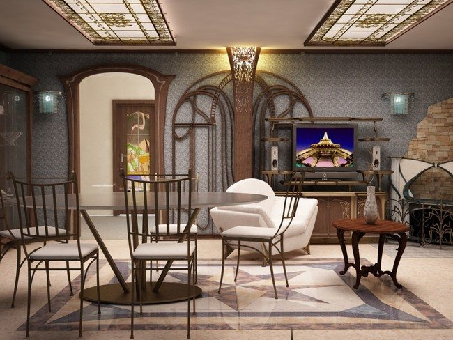 Black And White Wallpaper Living Room Art Nouveau Interior Design Ideas You Can Easily Adopt In