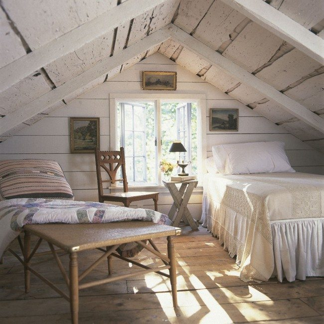 Habillage Bois Mur Exterieur Attic Bedroom Design And Décor Tips - Decor Around The World