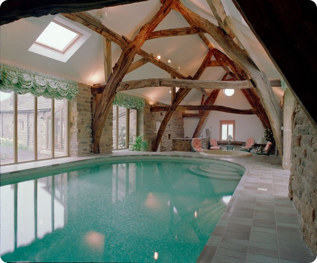 Interior Rustic Indoor Pool Ideas- Step Up Your Pool Game With These