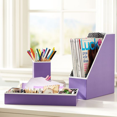 Purple Storage Decor by Color