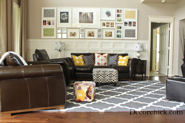 Our New Living Room Rug! - Decorchick! ® - brown rugs for living room