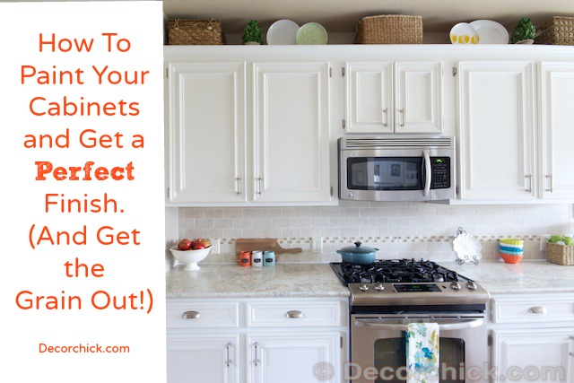 How To Paint Your Cabinets Like The Pros, And Get The Grain Out