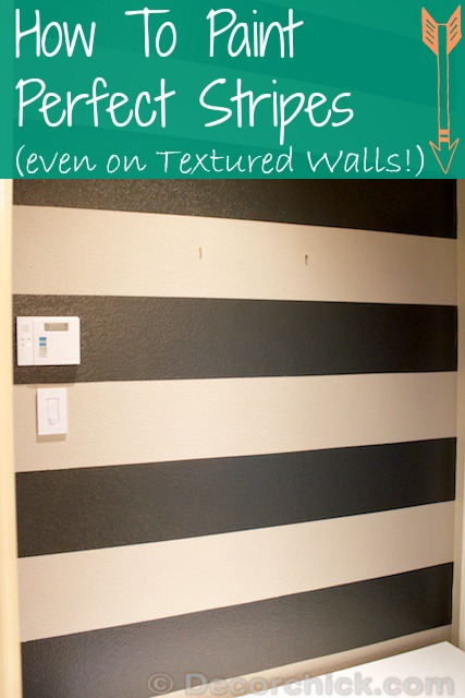 How To Paint Stripes | And Painting Stripes On Textured Walls