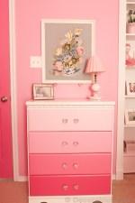 Ombre Dresser Pink Bedroom