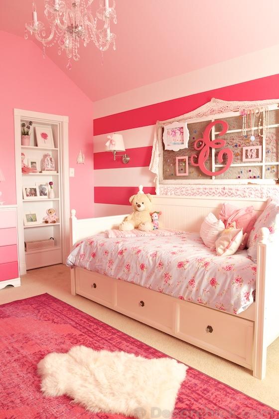 A Dreamy Girl Room Makeover With Hidden Door Bookcase