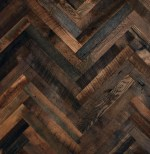 Reclaimed Herringbone Wood Floor