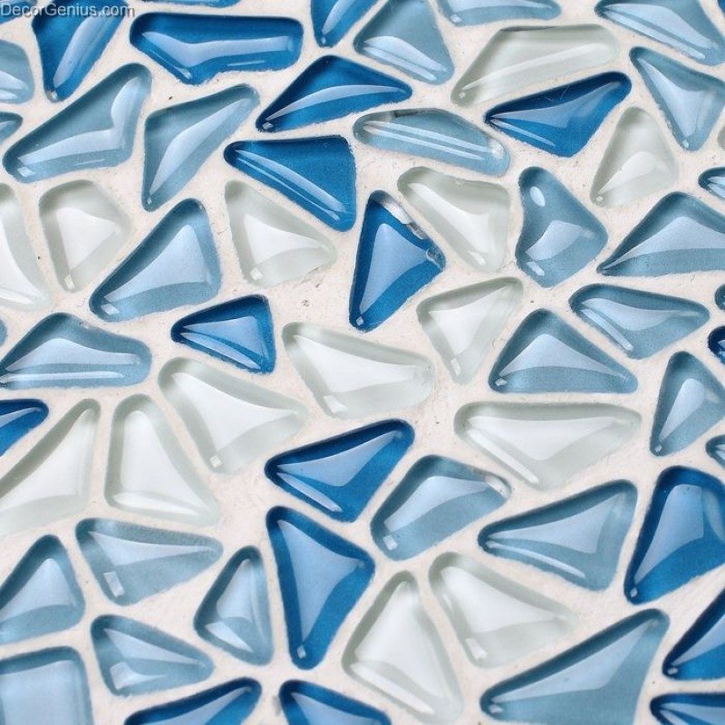 3d Wallpaper Online Shopping Crystal Blue Pebble Style Home Decor Wall Tile Modern