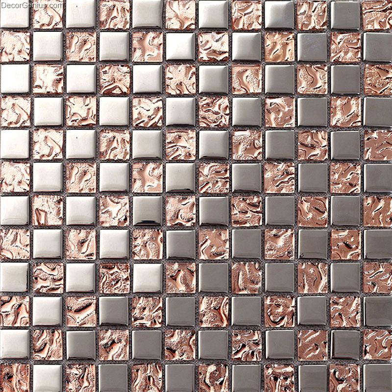 Black Silver And Pink Wallpaper Pink Home 3d Floor Tile Mosaic Dgmm012 Metal Kitchen