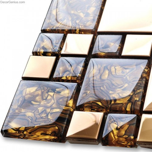 3d Stone Wallpaper Reviews Badroom Gold Adhesive Glass Mirror Tiles 3d Tile Stickers