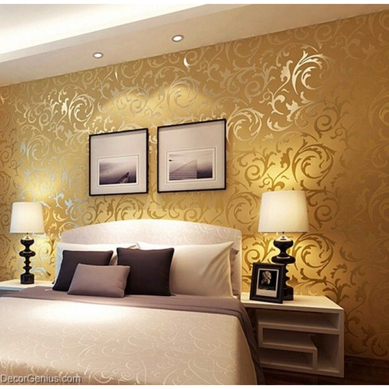 3d Stone Wallpaper Malaysia Popular 3d Design Dk Gold Bedroom Wallpaper Modern Style