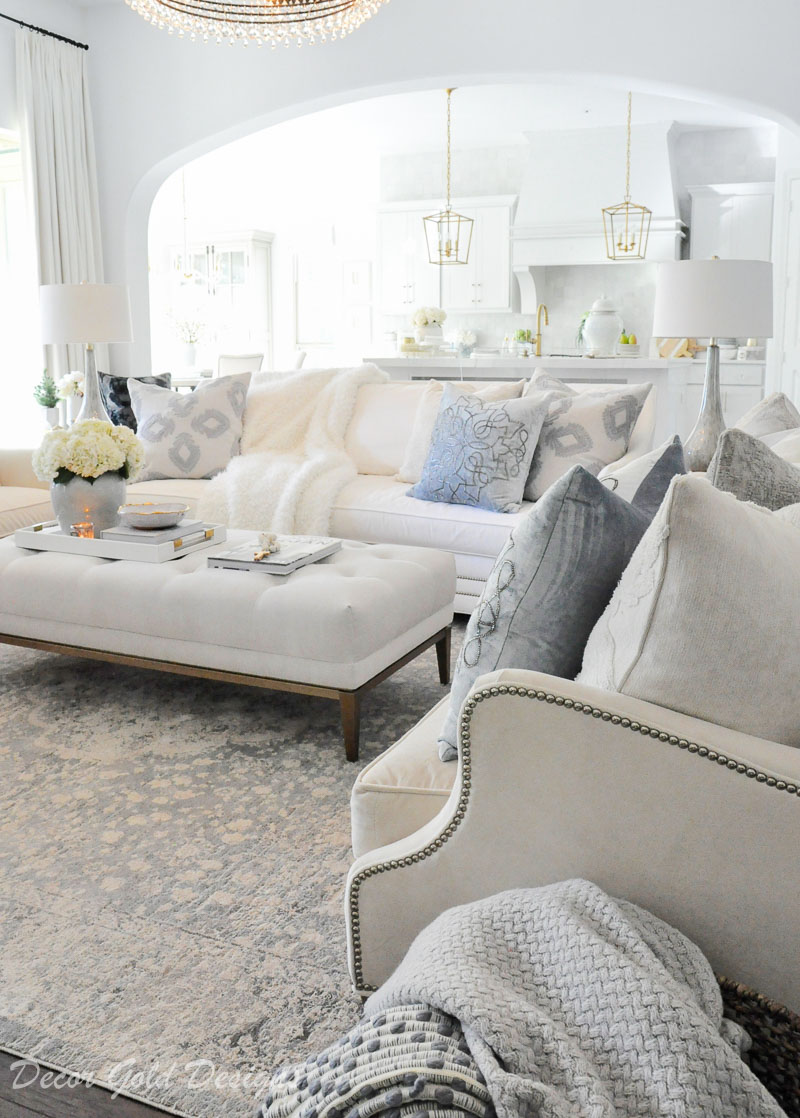 Grey White And Blue Living Room Living Room Decor Gold Designs