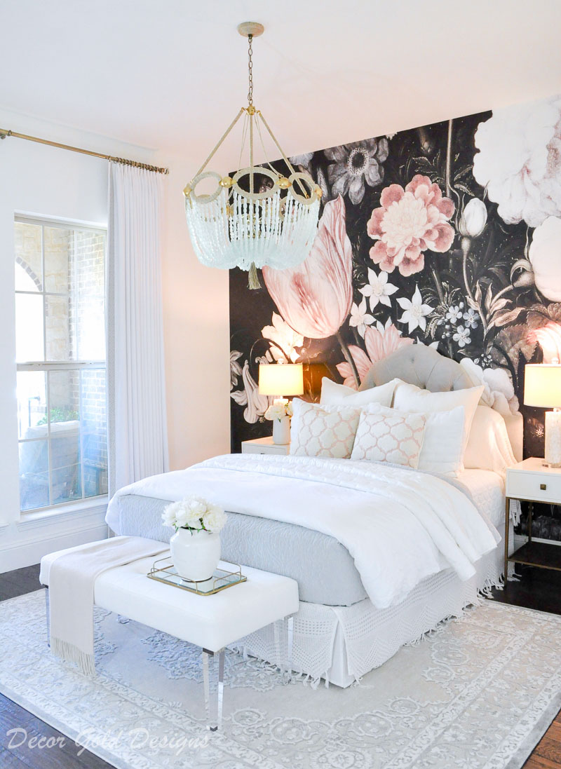 White Decoration Bedroom Home Tour Decor Gold Designs