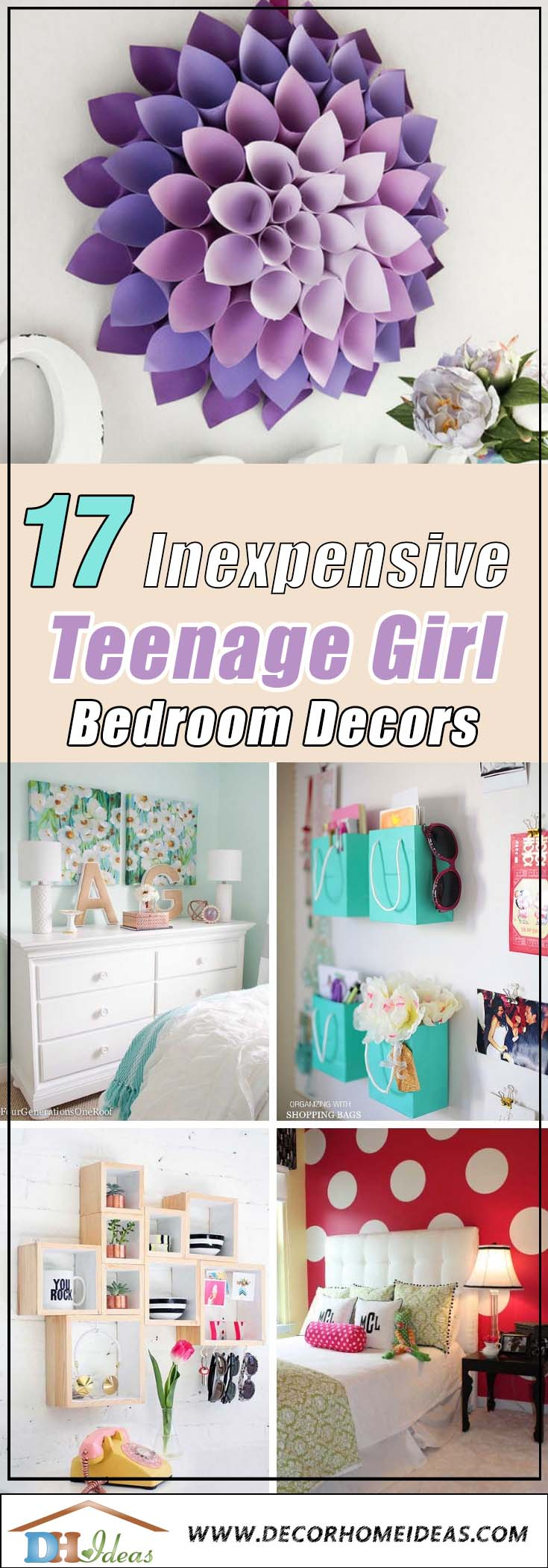 17 Cheap Ways To Decorate A Teenage Girl S Bedroom Decor Home Ideas