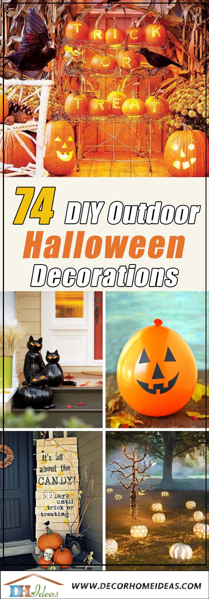 74 Best Diy Outdoor Halloween Decorations Complete List For 2021 Decor Home Ideas