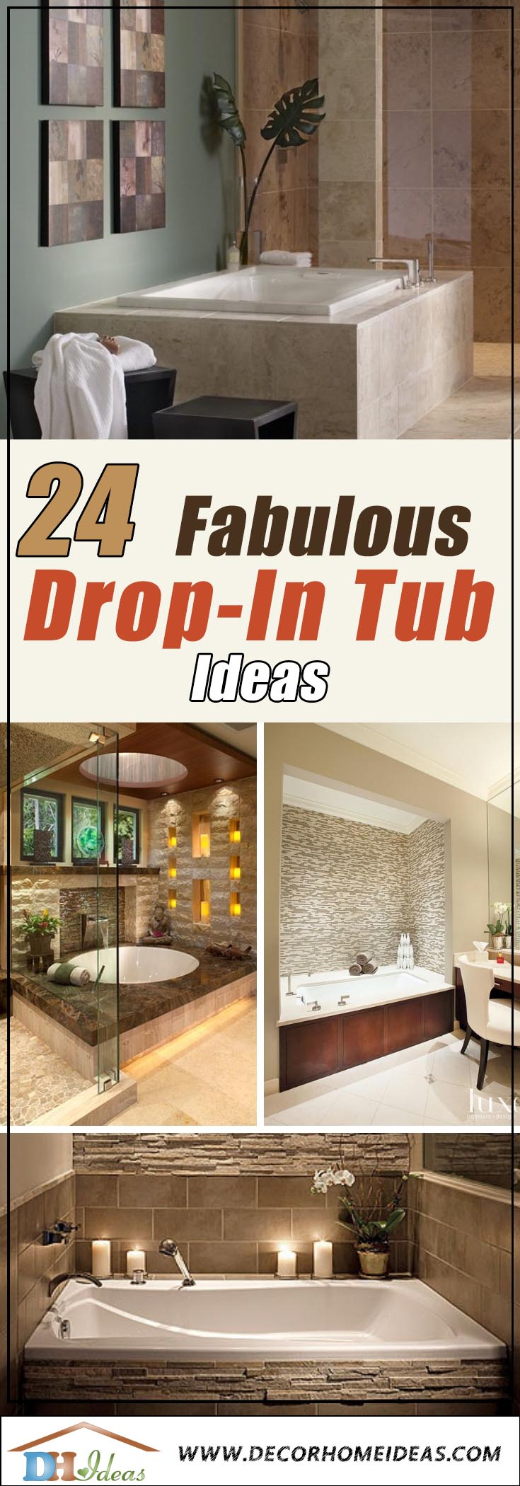 24 Fabulous Drop In Tub Ideas And Designs For 2021 Decor Home Ideas