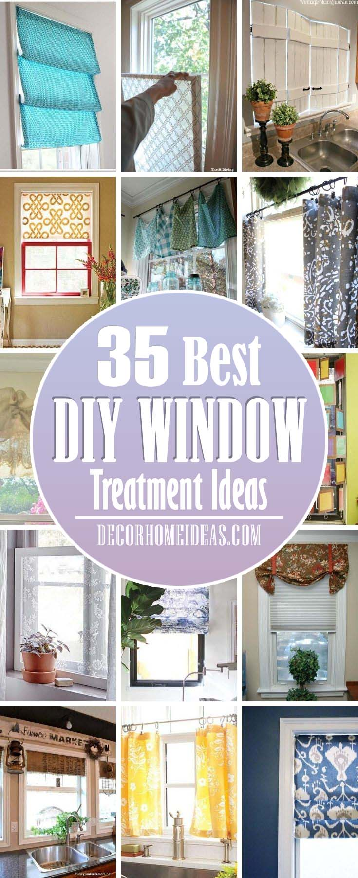 35 Best Diy Window Treatment Ideas That Ll Make Your View Even Better Decor Home Ideas