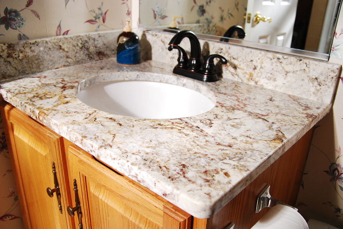 Bathroom Sinks With Granite Countertops Stylish Granite Sink As Natural And Artificial Stone In A Bathroom Decorideasbathroom Com Best Bath Ideas